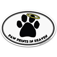 "Imagine This Company "" Paw Prints In Heaven"" Magnet, Oval Shape"