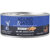 Hound & Gatos Lamb, Chicken & Salmon Formula Grain-Free Canned Cat Food, 5.5-oz, case of 24