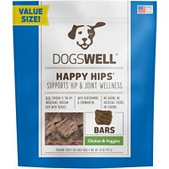 Dogswell Happy Hips Jerky Bars Chicken & Veggies Dog Treats, 28-oz bag