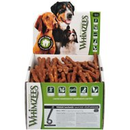 WHIMZEES Veggie Sausage Dental Dog Treats, Small, case of 150