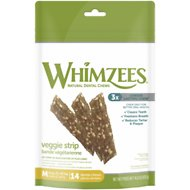 WHIMZEES Veggie Strip Dental Dog Treats, Medium, 14 count
