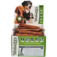 WHIMZEES Veggie Strip Dental Dog Treats, Medium, case of 100