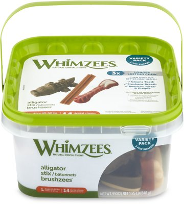 9. WHIMZEES Variety Pack Dental Dog Treats
