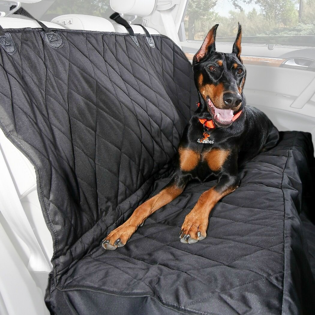 4Knines Rear Bench Seat Cover With Hammock Black Regular