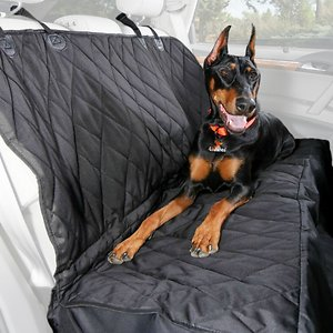 4Knines Rear Bench Seat Cover with Hammock, Black, Regular