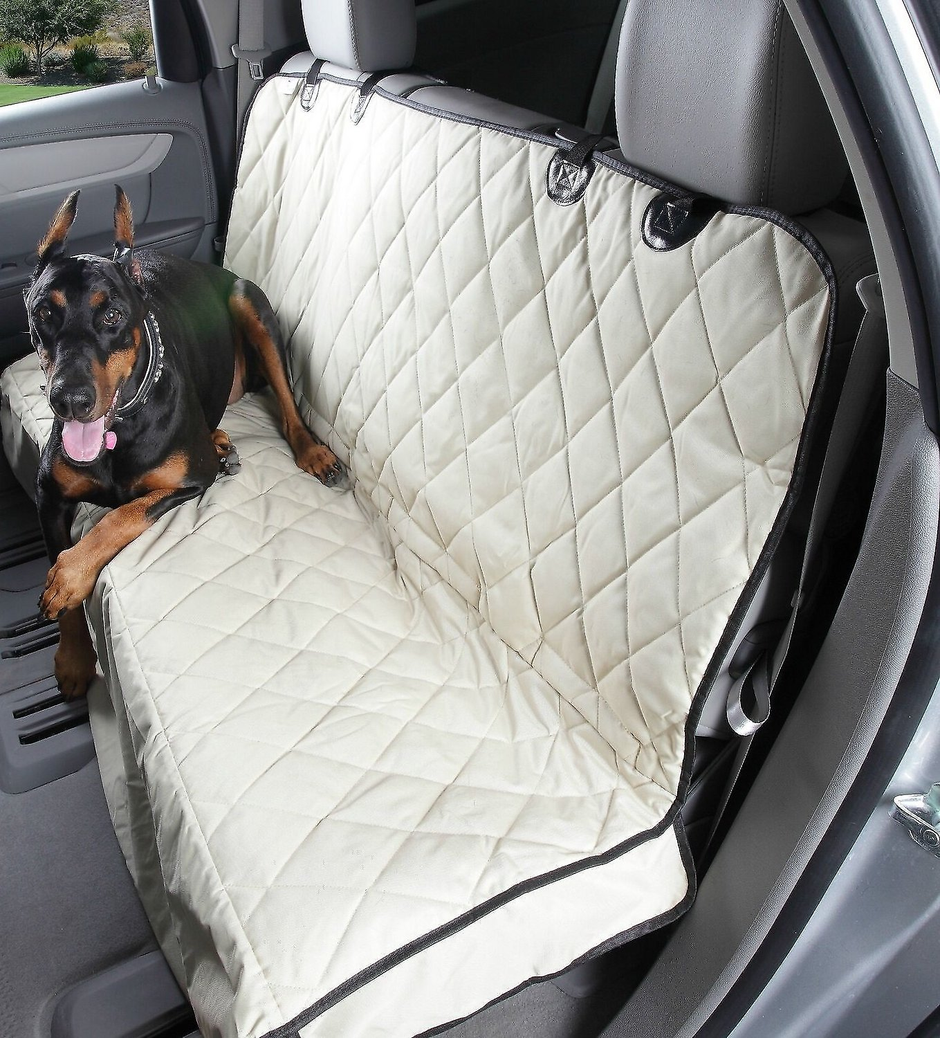 Phenomenal 4Knines Rear Bench Seat Cover With Hammock Tan Regular Caraccident5 Cool Chair Designs And Ideas Caraccident5Info