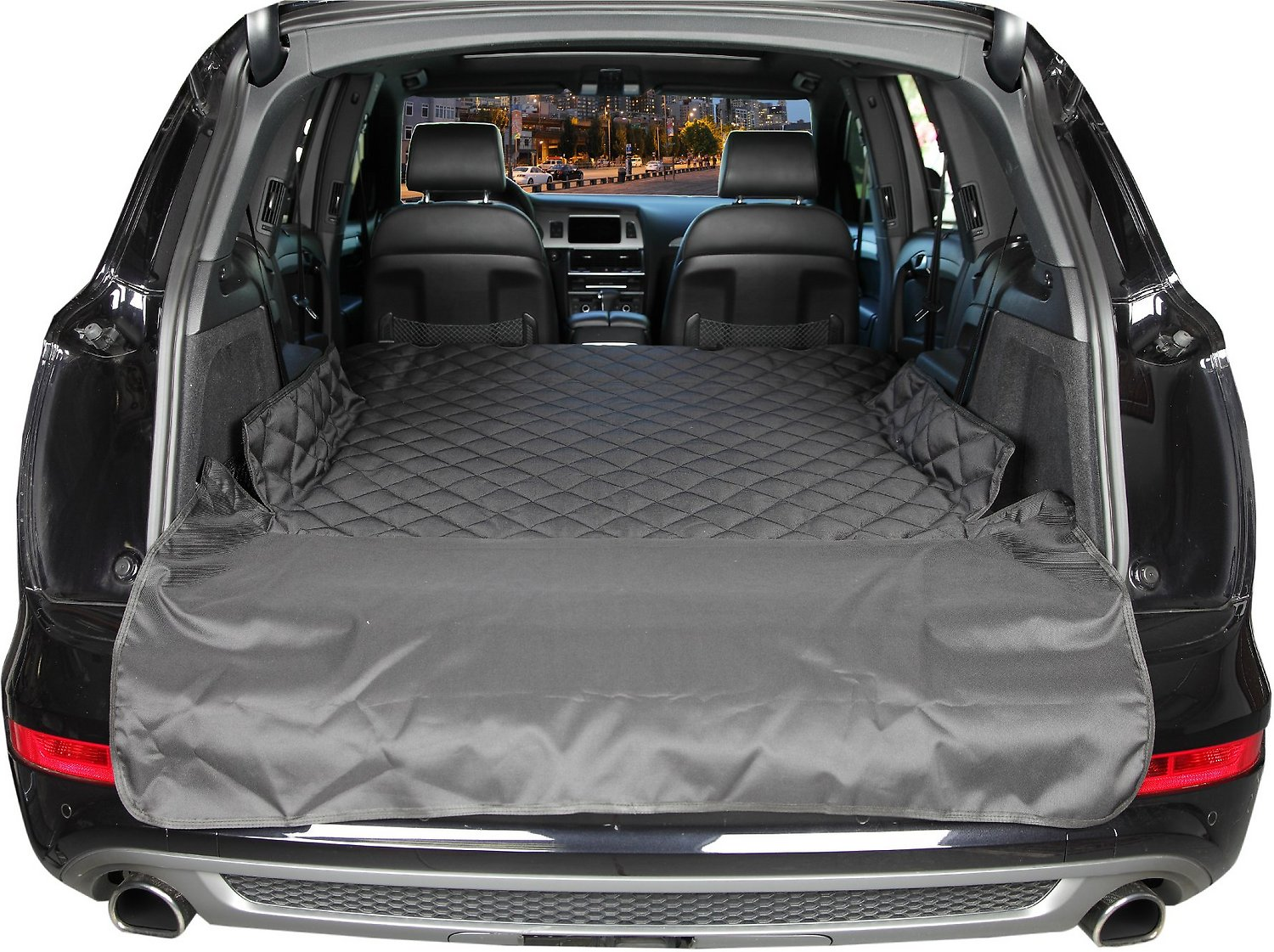 Dog Cover For Car >> 4Knines SUV Cargo Cover, Black, Large - Chewy.com