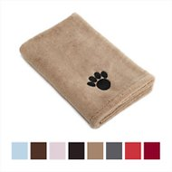 Bone Dry Embroidered Paw Print Microfiber Bath Towel, Taupe