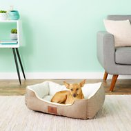 American Kennel Club Box Weave Design Cuddler Pet Bed, Tan