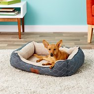 American Kennel Club Circle Stitch Orthopedic Cuddler Pet Bed, Gray
