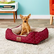 American Kennel Club Circle Stitch Orthopedic Cuddler Pet Bed, Burgundy