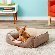 American Kennel Club Circle Stitch Orthopedic Cuddler Pet Bed, Taupe