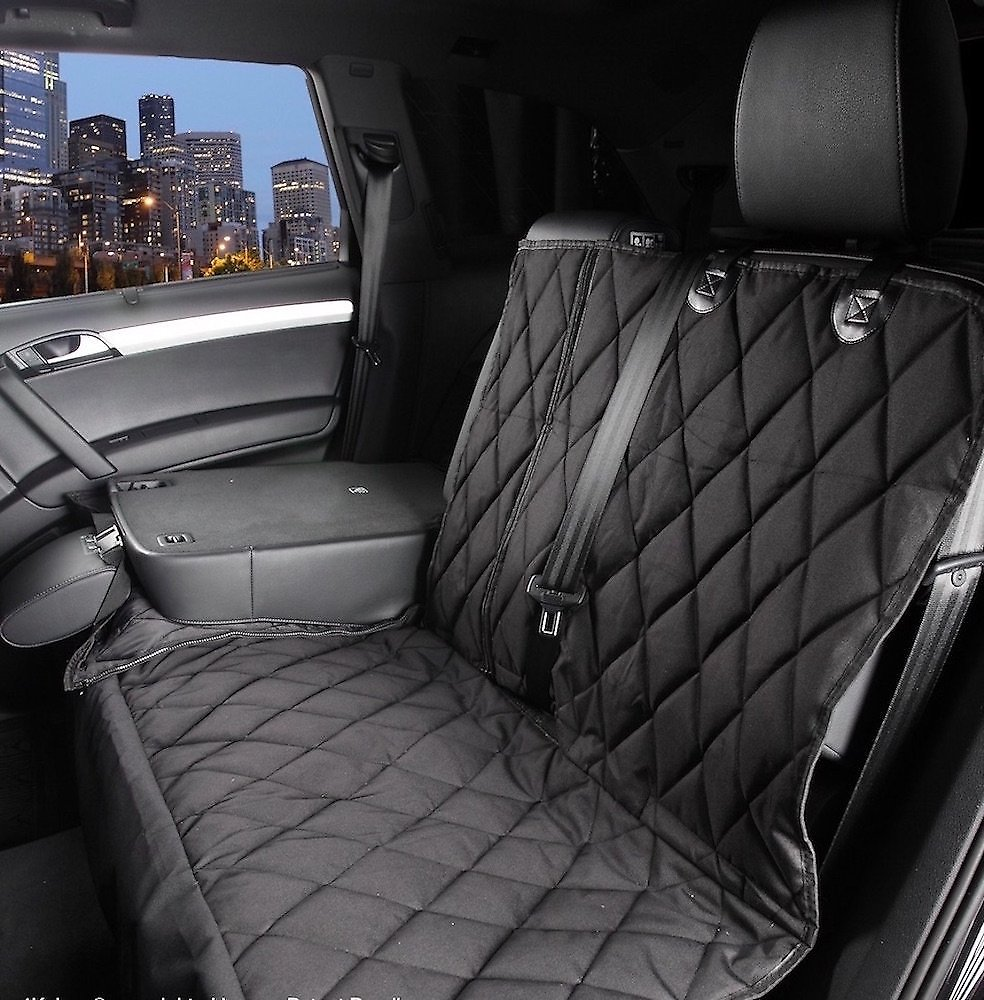 Car Bench Seat Covers >> 4knines Split Rear Seat Cover With Hammock Black Regular Chewy Com