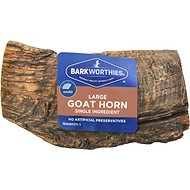 Barkworthies Large Goat Horn Dog Treats, 1 count