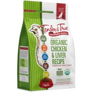 Tender & True Organic Chicken & Liver Recipe Grain- Free Dry Dog Food, 4-lb bag
