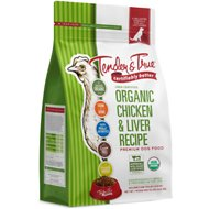 Tender & True Organic Chicken & Liver Recipe Grain- Free Dry Dog Food, 20-lb bag
