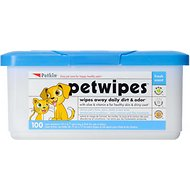 Petkin Petwipes Fresh Scent Dog & Cat Wipes, 100 count
