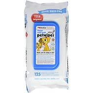 Petkin Petwipes Vanilla & Coconut Valu-Pak Dog & Cat Wipes, 125 count