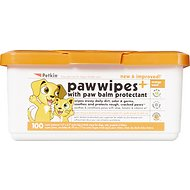 Petkin Dog & Cat Paw Wipes, 100 count