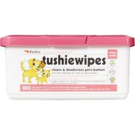 Petkin Dog & Cat Tushie Wipes, 100 count