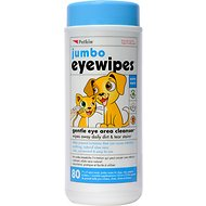 Petkin Jumbo Dog & Cat Eye Wipes, 80 count