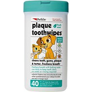Petkin Fresh Mint Dog & Cat Plaque Tooth Wipes, 40 count
