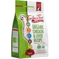 Tender & True Organic Chicken & Liver Recipe Grain- Free Dry Cat Food, 3-lb bag