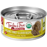 Tender & True Organic Turkey & Liver Recipe Grain-Free Canned Dog Food, 5-oz, case of 24