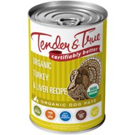 Tender & True Organic Turkey & Liver Recipe Grain-Free Canned Dog Food, 12.5-oz, case of 12