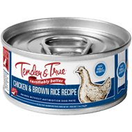 Tender & True Antibiotic-Free Natural Chicken & Brown Rice Recipe Canned Dog Food, 5.5-oz, case of 24
