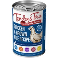 Tender & True Antibiotic-Free Natural Chicken & Brown Rice Recipe Canned Dog Food, 13.2-oz, case of 12
