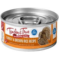 Tender & True Antibiotic-Free Natural Turkey & Brown Rice Recipe Canned Dog Food, 5.5-oz, case of 24