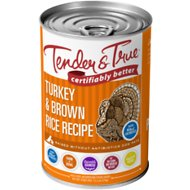 Tender & True Antibiotic-Free Natural Turkey & Brown Rice Recipe Canned Dog Food, 13.2-oz, case of 12