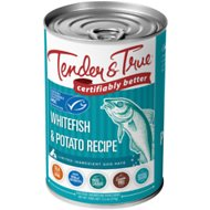 Tender & True Sustainable Seafood Ocean Whitefish & Potato Recipe Grain- Free Canned Dog Food, 13.2-oz, case of 12