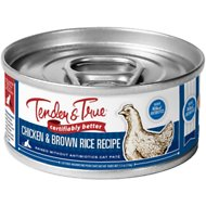 Tender & True Antibiotic-Free Natural Chicken & Brown Rice Recipe Canned Cat Food, 5.5-oz, case of 24