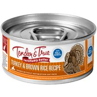 Tender & True Antibiotic-Free Natural Turkey  & Brown Rice Recipe Canned Cat Food, 5.5-oz, case of 24