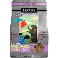Lotus Oven-Baked Lamb & Turkey Liver Small Bites Recipe Grain-Free Dry Dog Food, 4-lb bag