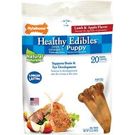 Nylabone Healthy Edibles Puppy Lamb & Apple Dog Bone Treats, Petite, 20 Count