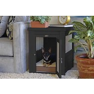 New Age Pet ecoFLEX Crate & End Table, Espresso, Small
