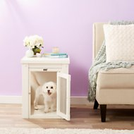 New Age Pet ecoFLEX Crate & End Table, Small, Antique White