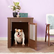 New Age Pet ecoFLEX Crate & End Table, Russet, Large