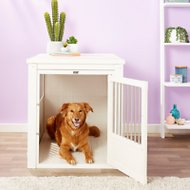 New Age Pet ecoFLEX Crate & End Table, Antique White, X-Large