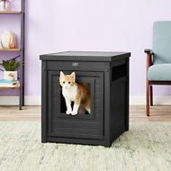 New Age Pet ecoFLEX Litter Loo & End Table, Espresso, Standard