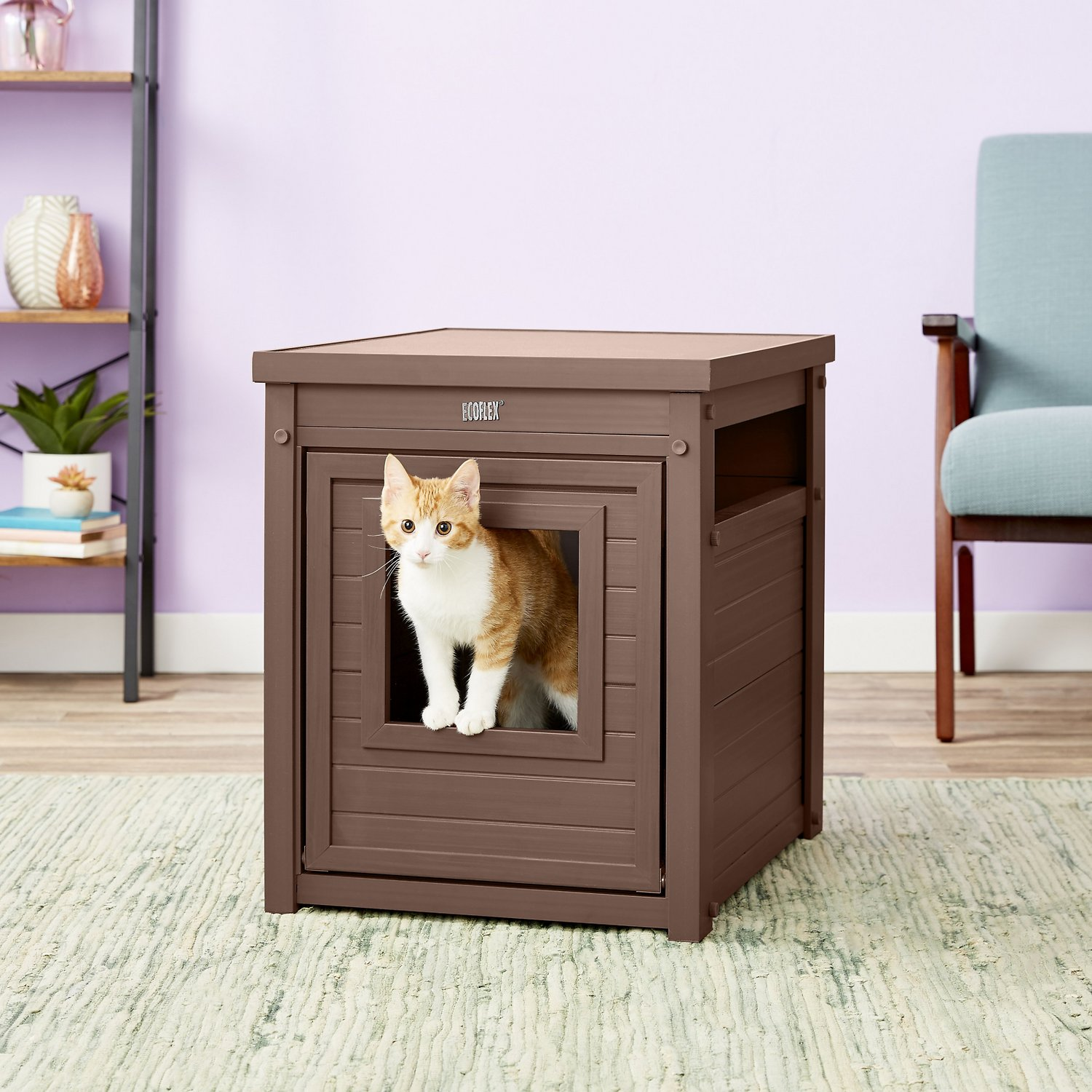 New Age Pet Ecoflex Litter Loo Amp End Table Russet