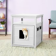 New Age Pet ecoFLEX Litter Loo & End Table, Jumbo, Antique White
