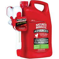 Nature's Miracle Advanced Dog Stain & Odor Remover, Accushot Spray, 1.3-gal bottle
