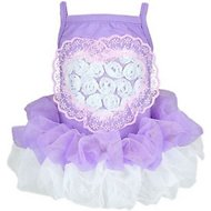 Parisian Pet Heart Tutu Dog Dress, Purple, X-Large