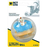 Pet Zone IQ Treat Ball Dog Toy, 3-in
