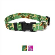 Yellow Dog Design Camo Adjustable Dog Collar, Green, Medium