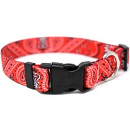 Yellow Dog Design Bandana Red Adjustable Dog Collar, Large